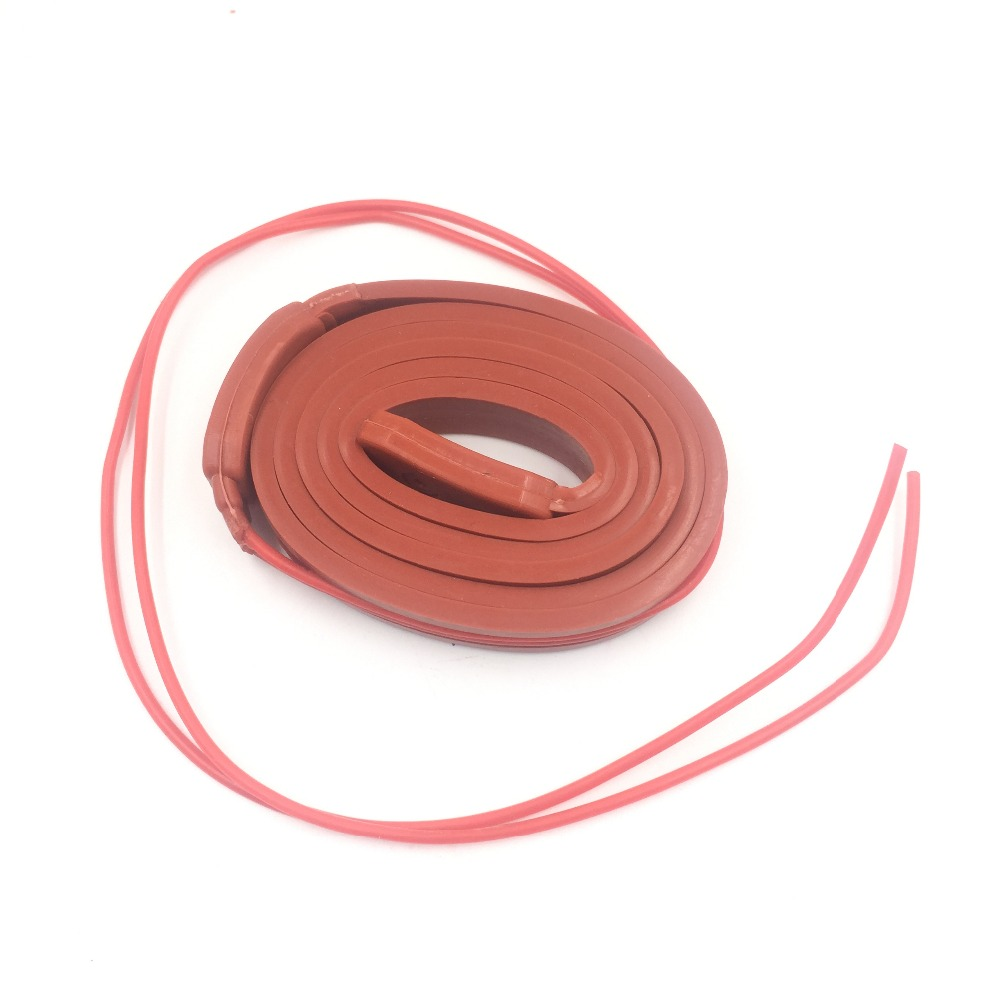 15MM 220V Waterproof Flexible Silicone Rubber Heater Heating Belt Cable Silica Gel For Pipeline Electrical Wire Car Battery 15x2000mm 160w 220v high quality flexible silicone heating belt heat tracing belt silicone rubber pipe heater waterproof