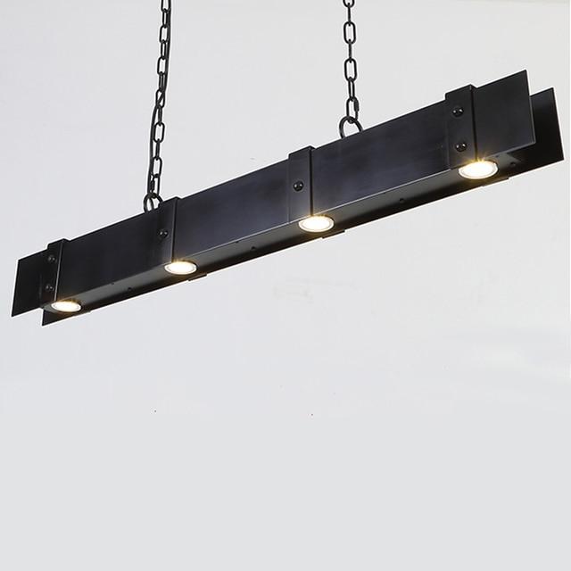 3 W Gu10 Ampoule Industrielle Lustre Luminaire Noir Retro Loft Metal