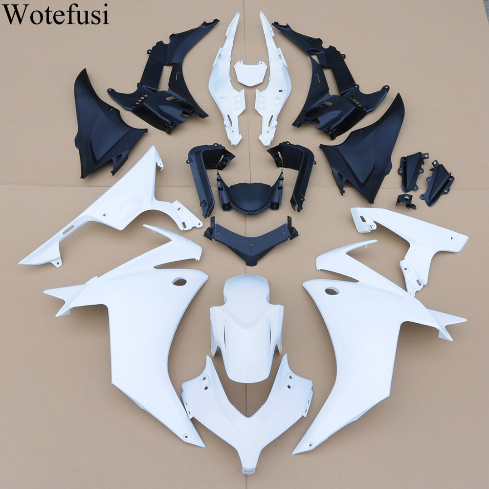 Wotefusi ABS Injection Unpainted Bodywork Fairing For Honda CBR500R 2013 [CK1354] unpainted abs injection mold bodywork fairing kit for honda cbr600rr 2013 13 new