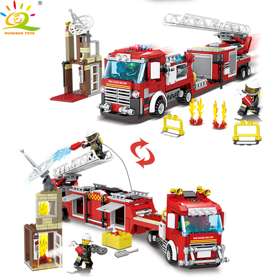 Beautiful Legoing City Firefighter 119 Emergency Fire Rescure Building Blocks Toys For Children Compatible Legoings Police Kid Blocks