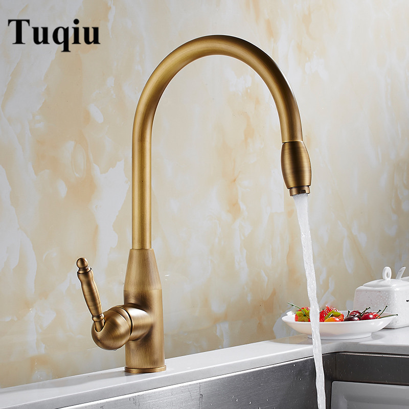 Kitchen Faucets Antique Bronze Single Handle Pull Out Kitchen Tap Single Hole Handle Swivel 360 Degree Water Mixer Tap Mixer Tap nail rhinestones 3d nail art decorations hinning sharp flat bottom studs nail decor for uv gel polish manicure in wheel