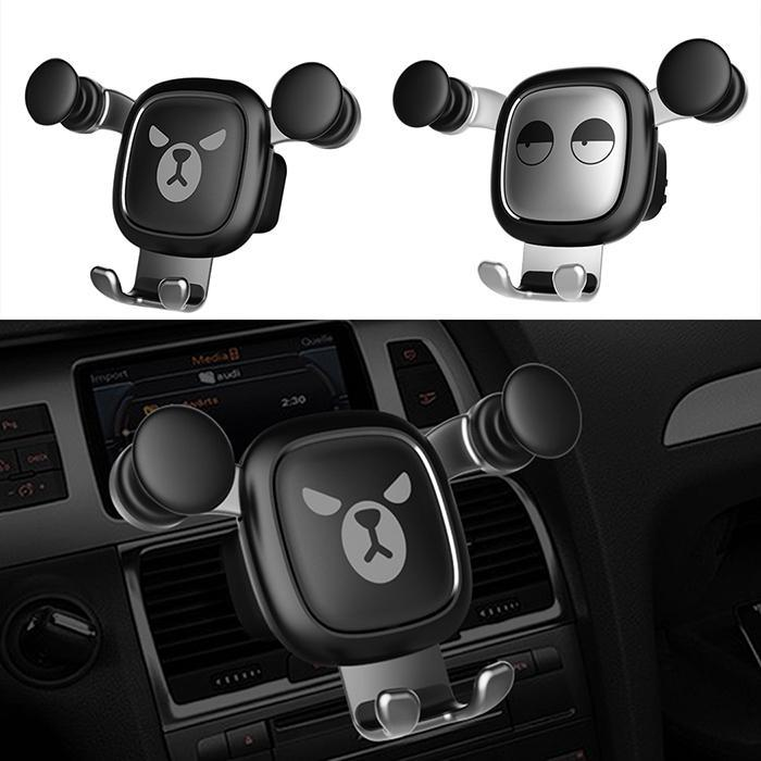 Cute Car Phone Holder Gravity Stand Mini Auto Holder Mount Cartoon Phone Holder Car Holder for Phone in Car Accessories Styling in Phone Holders Stands from Cellphones Telecommunications