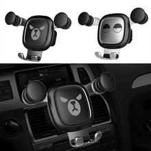 Cute Car Phone Holder Gravity Stand Mini Auto Mount Cartoon for in Accessories Styling