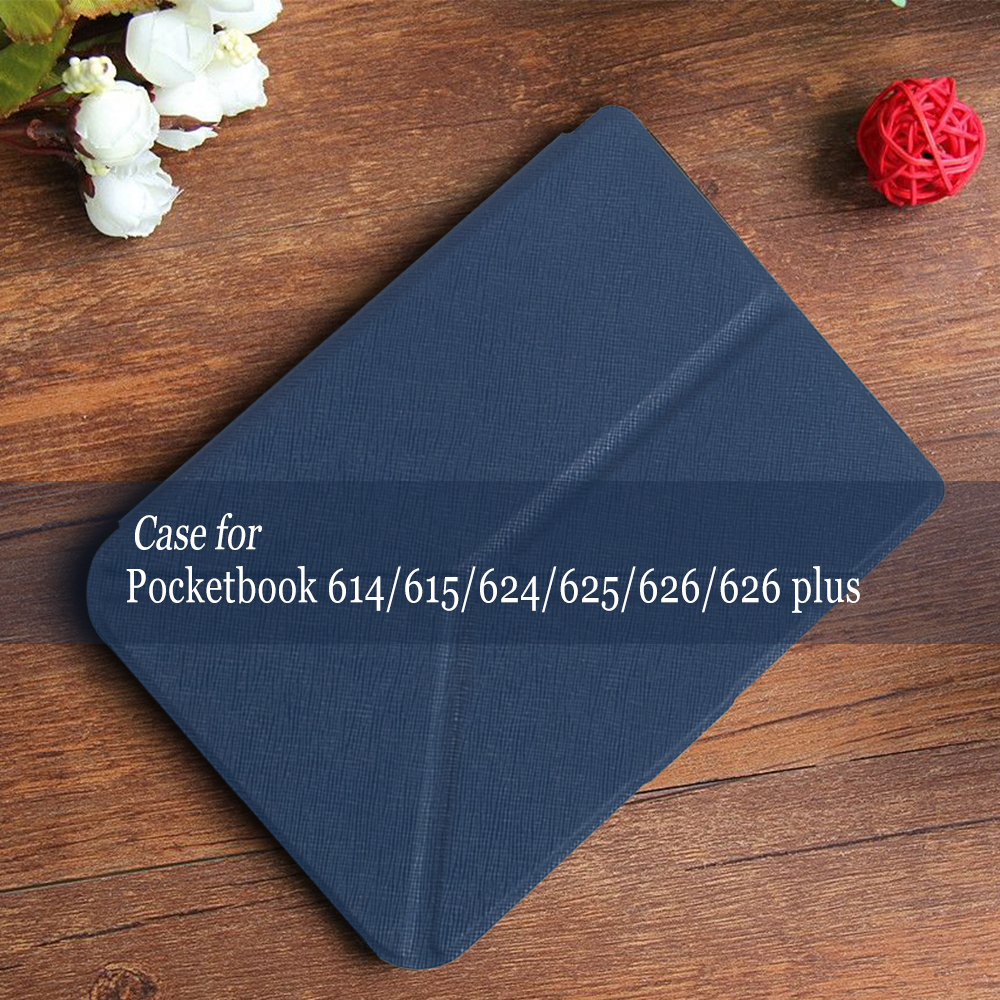 New Arrival Case for Pocketbook 625 614 615 624 626 626 plus PU leather with stand + protective film + stylus pen as two gifts folio stand pu leather cover case for new pocketbook 614 624 626 screen protector