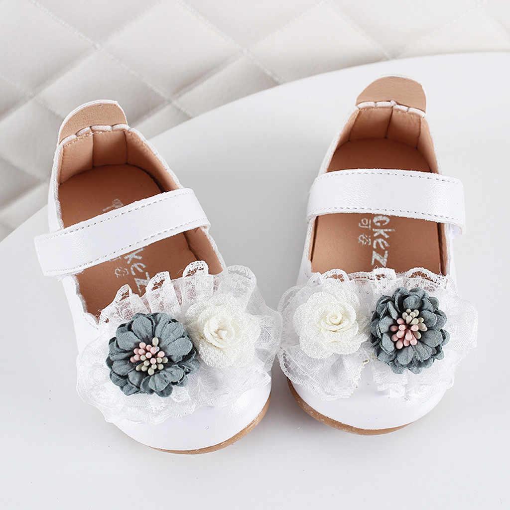 ילדי ילדי נעלי בנות מזדמנים אופנה סנדלי אביב הקיץ אלגנטי פרח נעל לקדש סנדלי וו & לולאה נסיכת נעליים