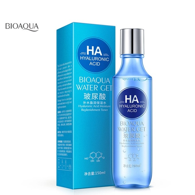 2018 BIOAQUA hyaluronic acid moisture replenishment toner face toners skin care refreshing whitening skin treatment face care