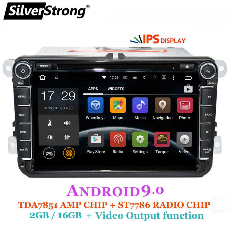 SilverStrong 2Din IPS ANDROID9.0 車の DVD vw Android フォルクスワーゲンパサート golf for ポロ/オクタヴィアラジオのための 801