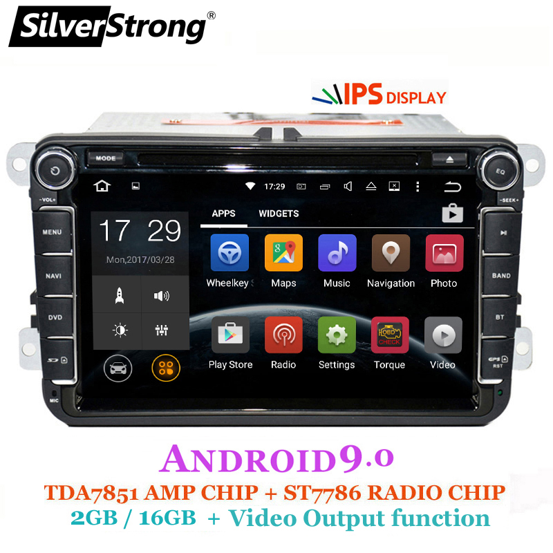 SilverStrong 2Din IPS ANDROID9.0 DVD de voiture pour VW Android pour Volkswagen Passat Tiguan Golf Polo Octavia radio pour Skoda 801