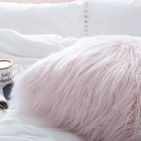 30X50CM Plush Soft Solid Fur Feather Cushion Cover Lumbar Pillows Case Luxury Sofa Bed Home Car