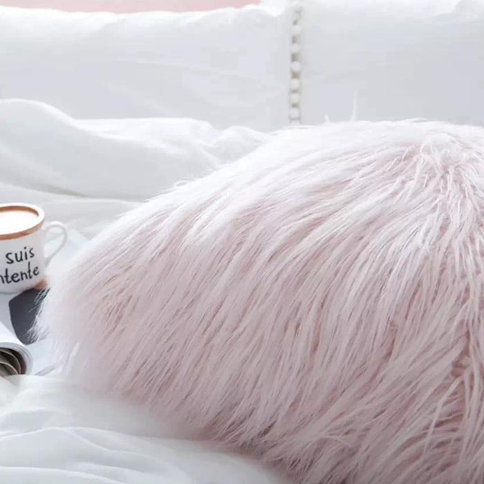 30X50CM Plush soft solid fur feather Cushion Cover Lumbar Pillows case luxury sofa bed home car room home Dec wholesale FG598