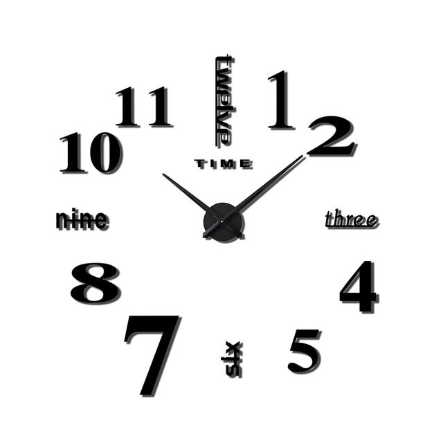 Modern Design Large 3D Decorative Wall Clocks
