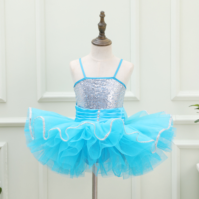 Pink Blue Professional Ballet Tutus Children's Dance Balett Dress Girl Sequins Swan Ballet Costumes Ballerina Party Dress Kids