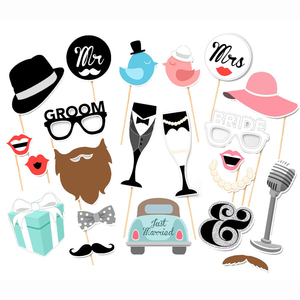 Free Shipping 22 pcs/lot Photo Booth Props Photobooth For Wedding Decoration Party Decoration Event & Party Supplies