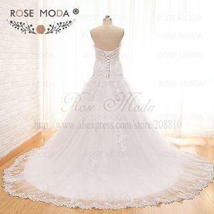 Image 3 - Vestido de boda de cintura baja encaje de Venecia de alta calidad con chaqueta de encaje de manga larga extraíble Corset Back Ball Gown fotos reales
