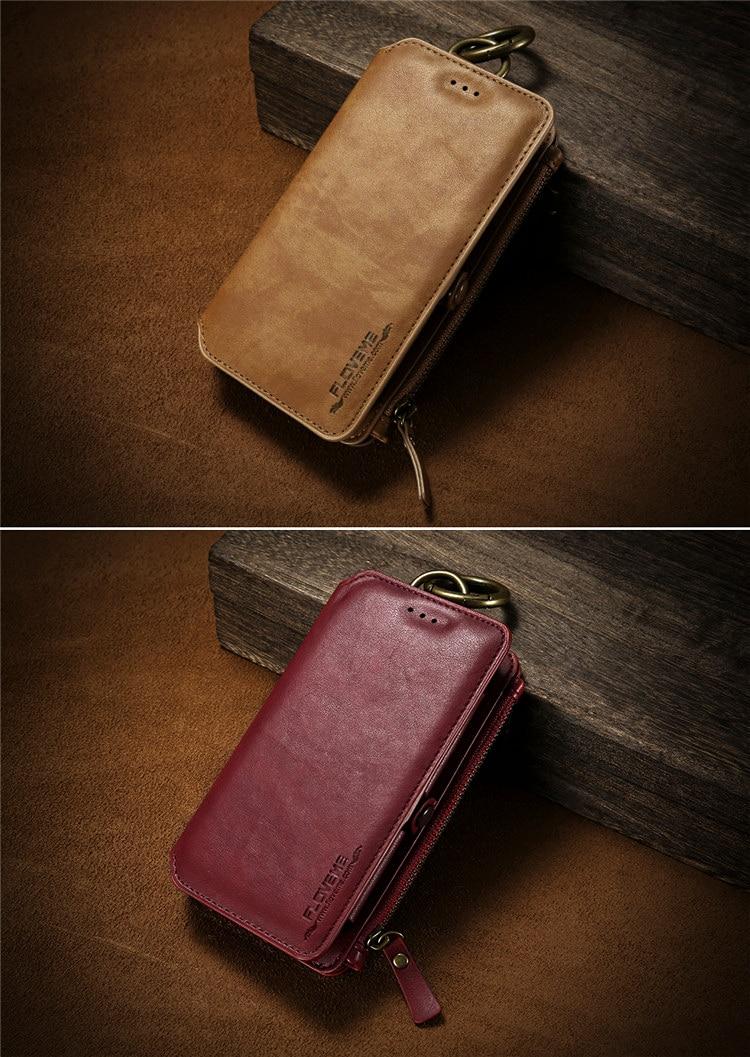 HTB1WH4csXGWBuNjy0Fbq6z4sXXag FLOVEME Luxury Retro Wallet Phone Case For iPhone 7 7 Plus XS MAX XR Leather Handbag Bag Cover for iPhone X 7 8 6s 5S Case shell