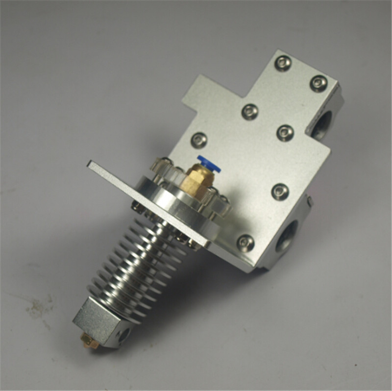 Reprap Prusa i3 X axis bowden feeding hotend+Metal exturder carriage kit for DIY 3D printer All metal Hole Distance:45mm a funssor chimera cyclops bowden x carriage mount hotend kit for reprap prusa i3 inductive sensor auto leveling probe 1 75mm