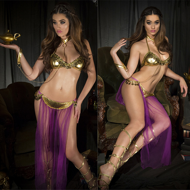 2016 Sexy lingerie hot Gold patent leather bra long veil Pole dancing Lingerie set lenceria sexy erotic lingerie sexy costumes