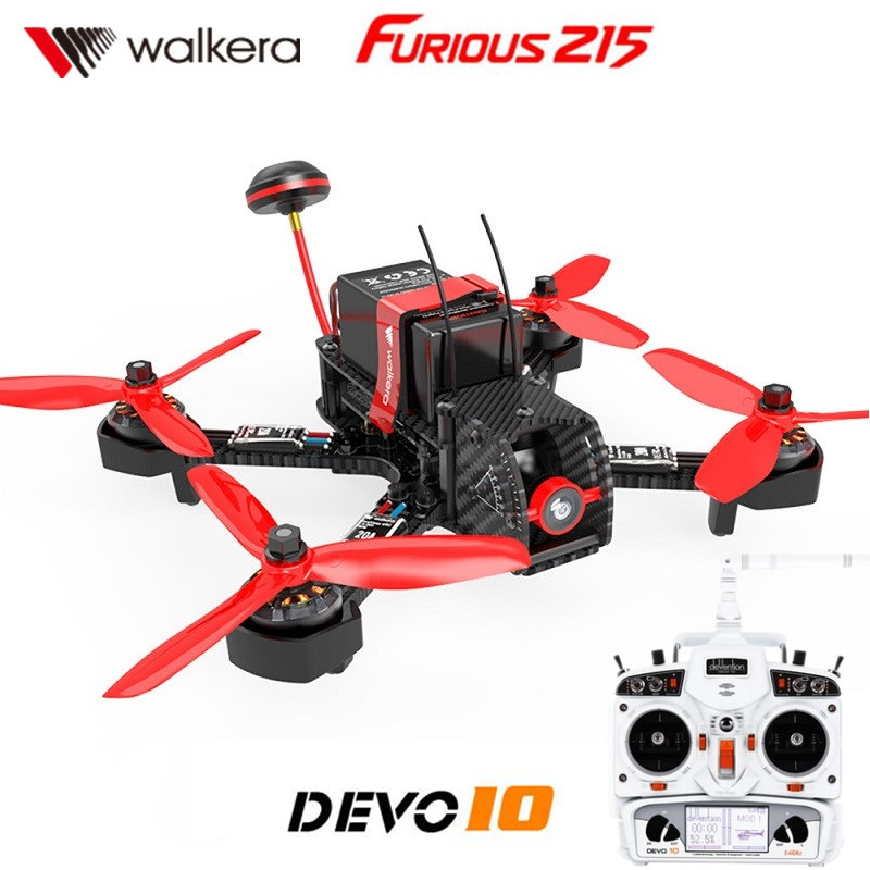 Walkera Furious 215 with DEVO 10 Transmitter RC Racing Drone with 600TVL Camera and F3 Flight Control RTF drone with camera rc plane qav 250 carbon frame f3 flight controller emax rs2205 2300kv motor fiber mini quadcopter