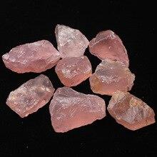 50 г натуральный сырой розовый кристалл кварца необработанный камень с лечебным действием, образцы кристаллов любовь натуральные камни и минералы аквариум камень