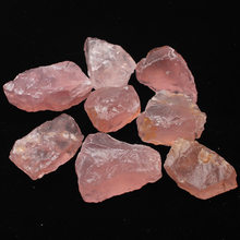 50G Natural Raw Pink Rose Quartz Crystal Rough Stone Specimen Healing crystal love natural stones and minerals fish tank stone(China)