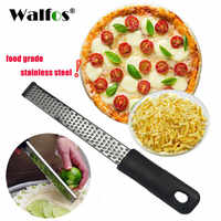 WALFOS  Stainless Steel Lemon Zester,Cheese and Spice Grater Bonus Brush Nutmeg Spices-Sharp with  Non-slip Handle