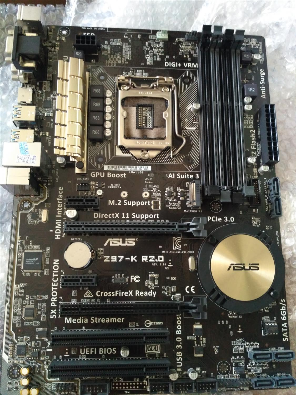 Utilisé, Asus Z97-K R2.0 Carte Mère De Bureau Z97 Socket LGA 1150 i7 i5 i3 DDR3 32G SATA3 ATX