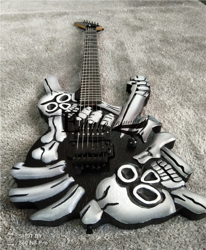 Eagle. Butterfly, electric guitar, electric bass hand made shop, metal electric guitar, 24 products, skull and head carving elec
