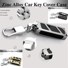 3 colores caso de protección shell llave del coche de control Remoto de Metal Cadenas bolso de la llave de Mazda CX-5 CX-7 ATENZA Axela CX-4 Caso Clave cubre