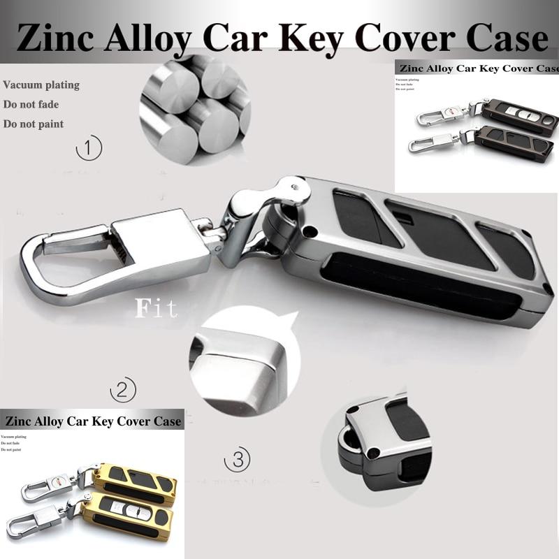 3 couleur Métal contrôle de protection À Distance shell clé de voiture cas Chaînes clés sac pour Mazda CX-4 Axela CX-5 CX-7 ATENZA Key Case couvre