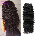 Bomb 10A Brazilian Deep Wave Hair Grade 100% Unprocessed Virgin Hair 3 Bundle Deals Brazilian Hair Deep Wave Human Hair Weaving