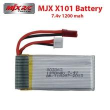 Mjx X101 batería 7.4 v 1200 mah baterías Lipo repuestos