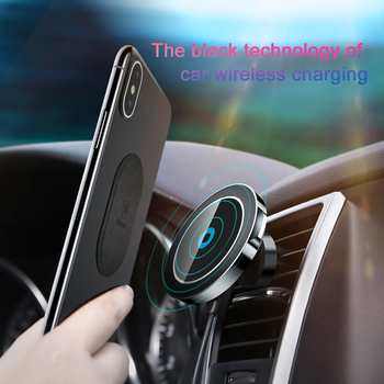 Baseus Qi Wireless Charger Magnetic Car Phone Holder For iPhone XS Samsung Holder Stand Wireless Car Charger Mobile Phone Holder 1