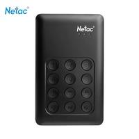 Netac K588 hdd 2 ТБ USB 3.0 2.5 Портативный HDD Шифрование внешний жесткий диск независимых блокировка клавиатуры для рабочего ноутбука