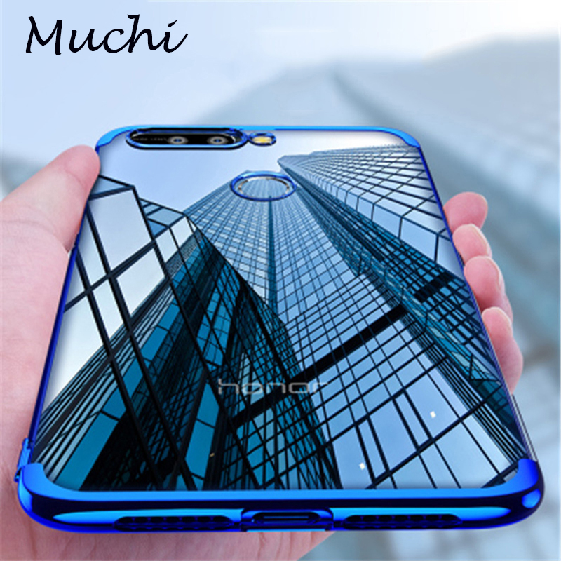 new styles 93ee2 d3135 US $2.99 25% OFF|Aliexpress.com : Buy MUCHI For Huawei Y7 Prime 2018 Case  Luxury Laser Plating Soft Clear Back Cover For Huawei Y9 2018 Honor 7X 7C  ...