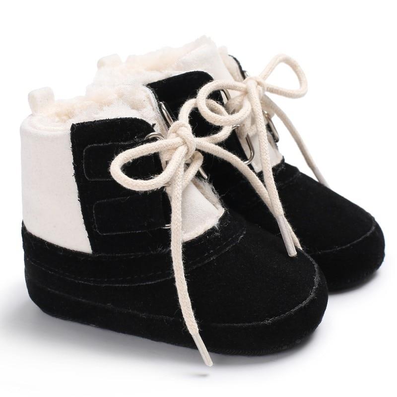 Зимняя Теплая обувь с мягкой подошвой Обувь мальчик гриль маленьких Обувь для От 0 до 1 года
