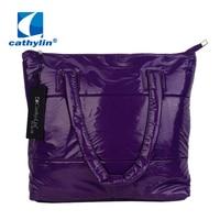 Cathylin Winter Cotton Padded Handbags Fashion Women Bag Leisure Ladies Shoulder Tote Bag