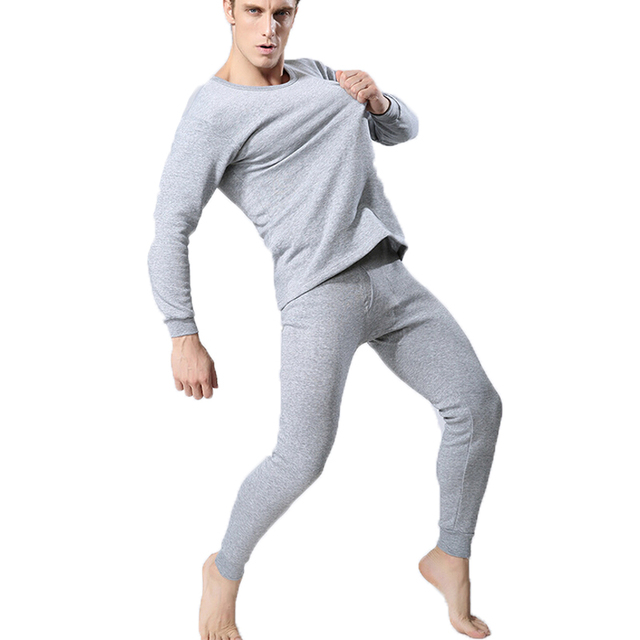 4983ec61ab0b Hot Sale Winter Mens Warm Thermal Underwear Long Johns Sexy o-Neck Thermal  Underwear Sets