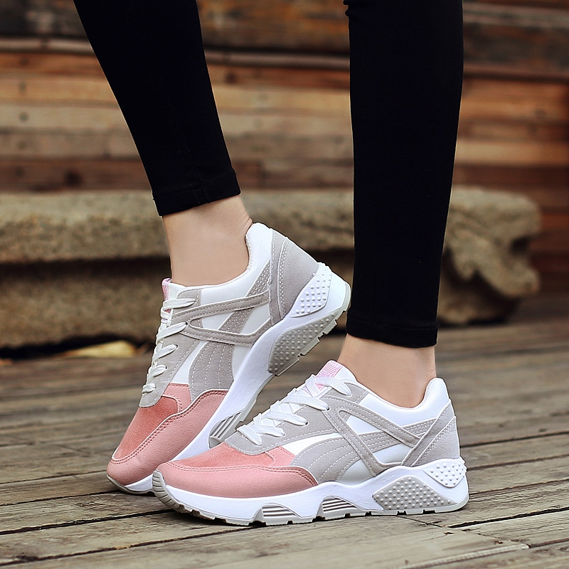 Women Sport Running Shoes 2017 Breathable Outdoor Sport Light Running Sneakers  All Season zapatillas mujer sneakers hot new 2016 fashion high heeled women casual shoes breathable air mesh outdoor walking sport woman shoes zapatillas mujer 35 40