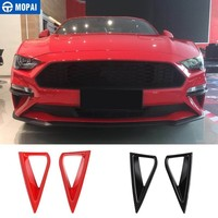 MOPAI Car Stickers for Ford Mustang 2018+ Car Front Daytime Running Light Decoration Cover for Ford Mustang 2019 Car Accessories
