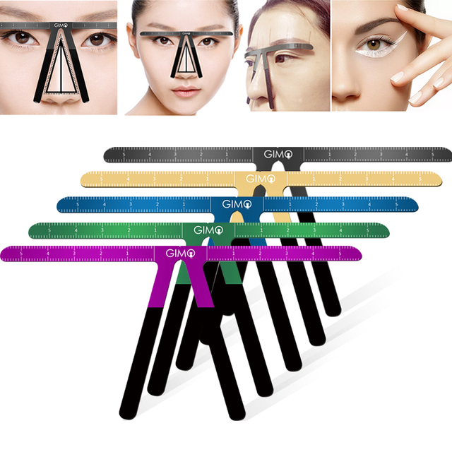 Colorful Eyebrow Ruler Makeup Shaping Position Measure Tools Eyebrow Stencils Maquiagem Ruler Balance Tattoo Stencil Template