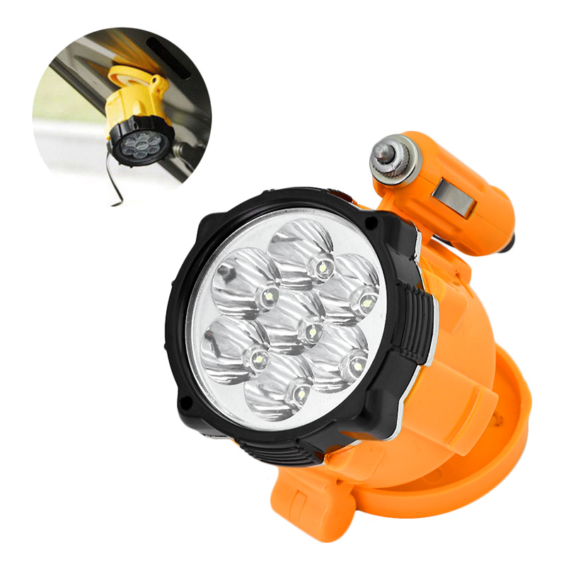 10pcs a lot 12v Magnetic 7 LED Car Truck Inspection Maintenance/Repair Light Garage Work Lamp Flashlight Torch