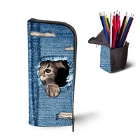 WHOSEPET Cute Cats Comestic Makeup Organizer Bags Box Necessities Storage Holder Travel Wash Bag Beauty Case