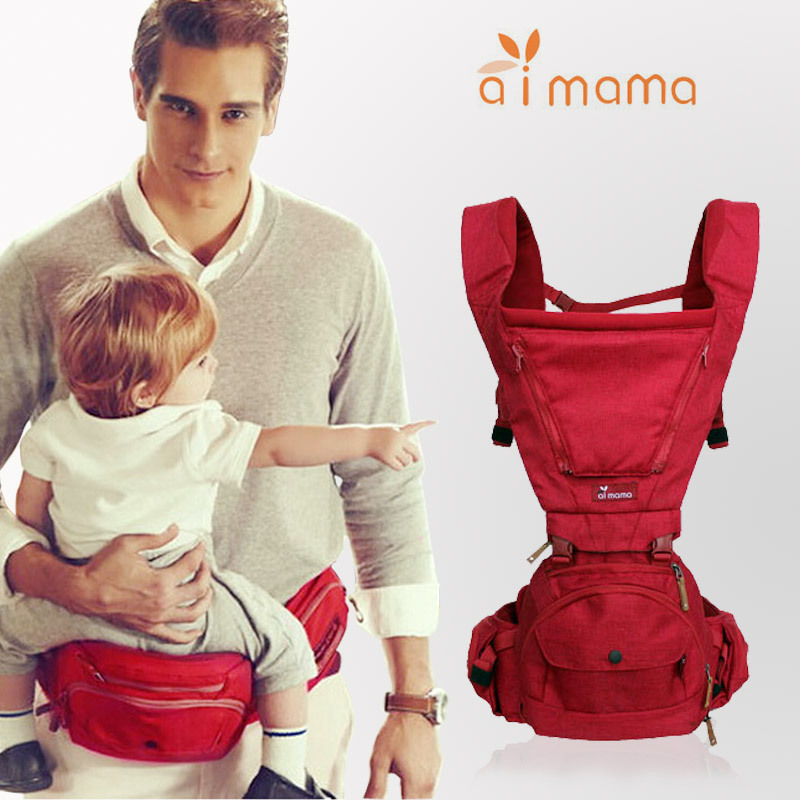 Aimama Breathable Aluminum Kangaroo Baby Carrier Multifunctional Canguru Hipseat Portabebe Hip Seat Front Baby Sling Mochila 2018 baby hipseat kangaroo rucksack mochila portabebe ergonomic baby carrier 360 hip seat baby sling for newborn