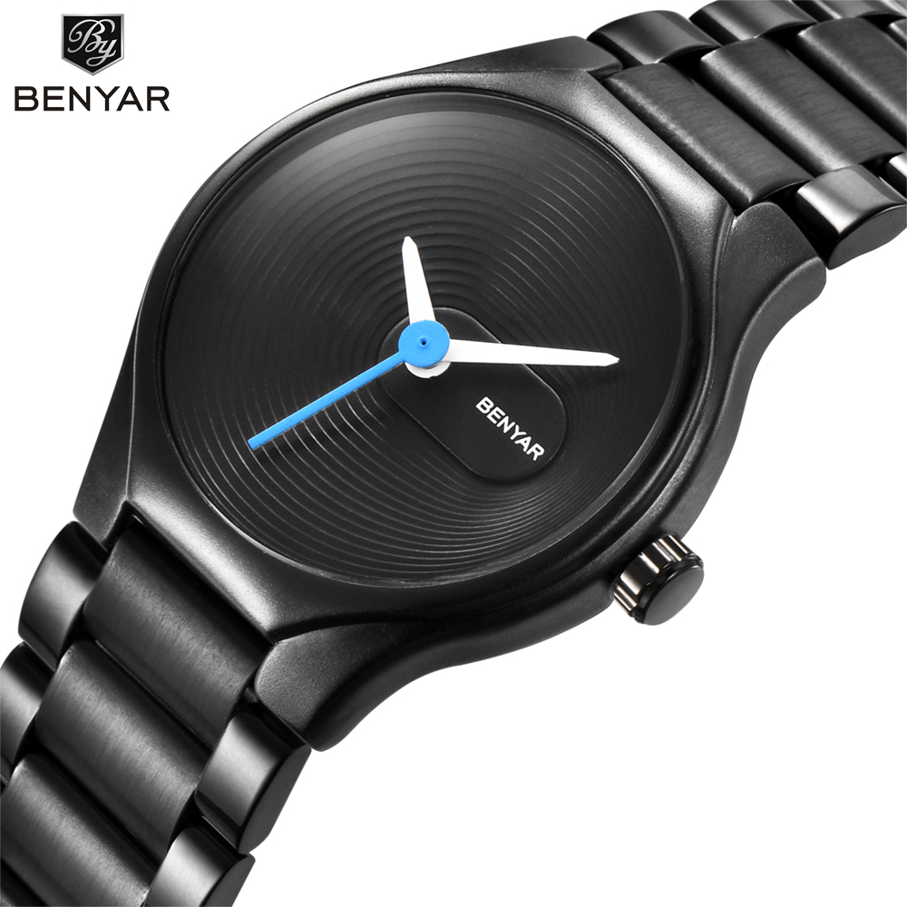 BENAYR Brand Fashion Women Watches Stainless Steel Waterproof Ladies Quartz Watch Female Dress Lovers' Wristwatches Gift Clock muhsein hot sellingnew lovers quartz watches stainless steel watch business women dress watches for couples free shipping
