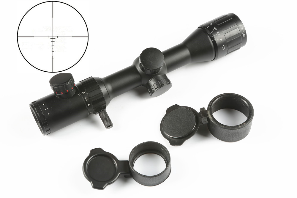 Tactical Hunting Scope 3-9x32 AO djustable Green Red Illuminated Range Finder Reticle optics sight hunting air rifle scope caza