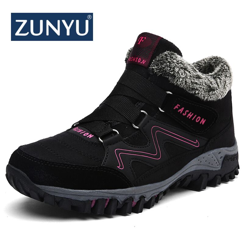 ZUNYU New Women Snow Boots Winter Ankle Ankleots Boots Warm Plush Platform Boots Fashion Female Wedge Shoes Snow Waterproof Boot platform bowkont flocking snow boots page 6