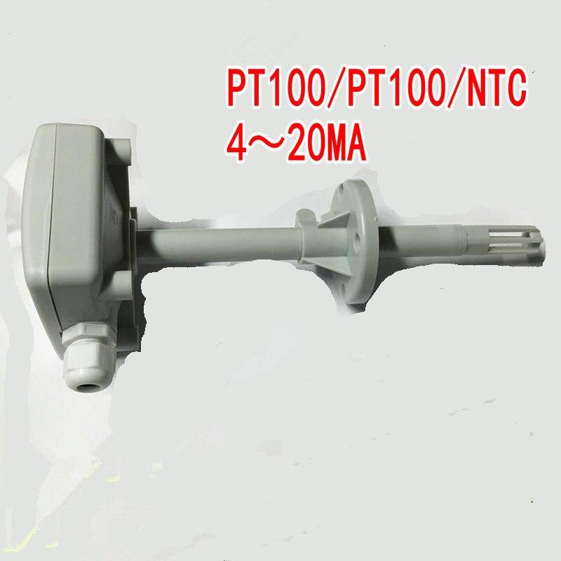 Resistenza Termica PT100 Trasmettitore Sensore di Temperatura Tipo Duct 4-20Ma NTC10K Sonda Sensore NTC20K shell 80*80*35mm Air ductResistenza Termica PT100 Trasmettitore Sensore di Temperatura Tipo Duct 4-20Ma NTC10K Sonda Sensore NTC20K shell 80*80*35mm Air duct