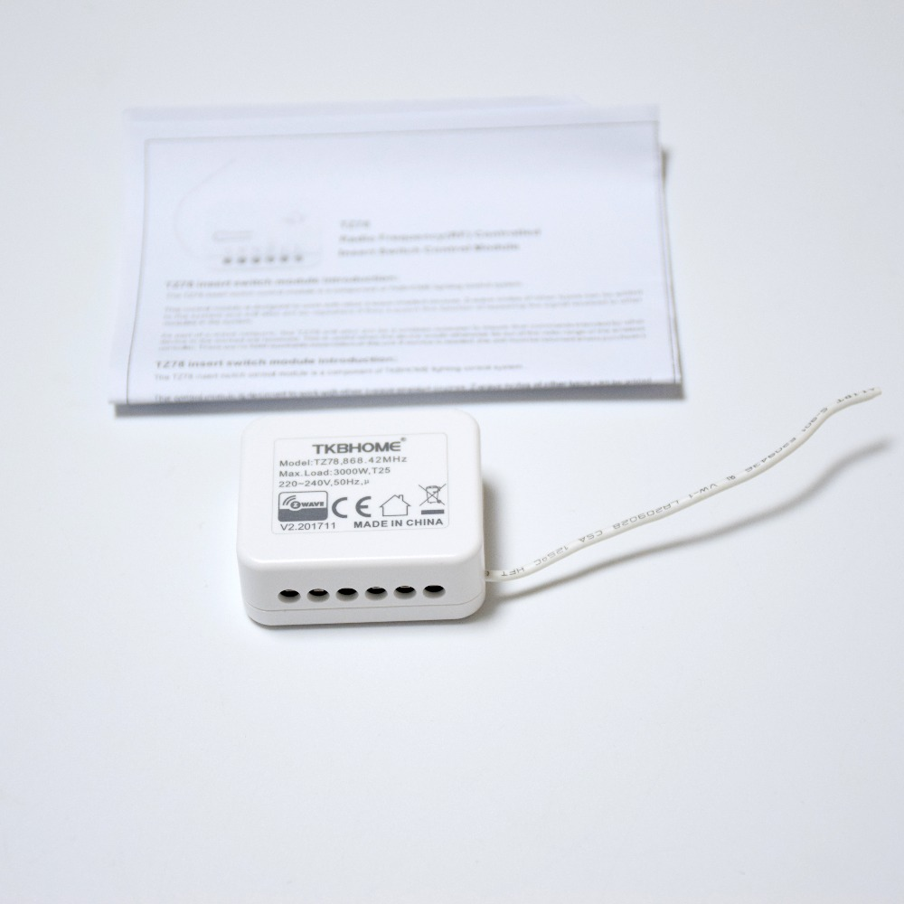 Z-волны плюс большой мощности вставить переключатель модуль управления TKBhome TZ78 одном реле управления освещением