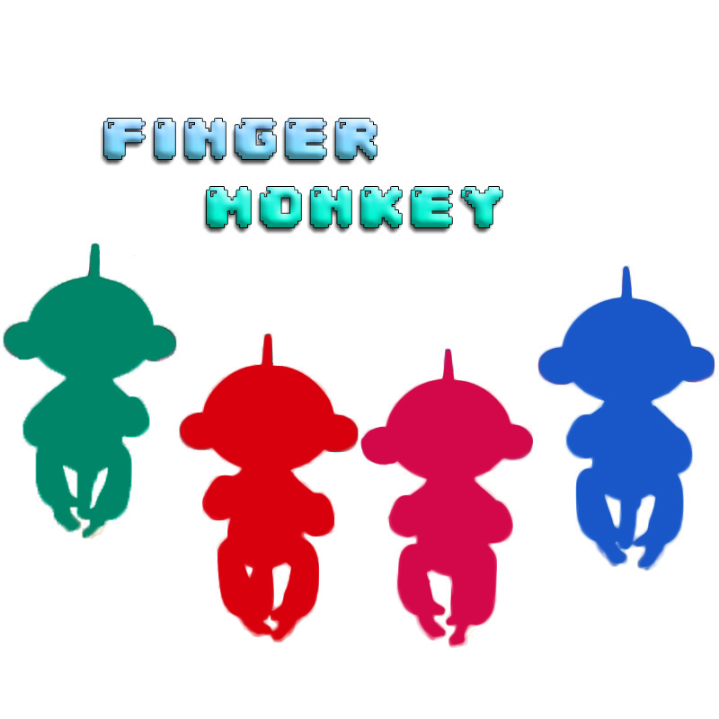 Finger Monkey Colorful Fingers Baby Monkey Toys Christmas Gift Kid Kawaii Pet Toys For Children Cute Mini toy