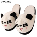 2016 New Brand Women Winter Indoor Slippers Cotton Panda Cute Plush Pantoufle Warm Funny Animal Emoji Floor Slippers Mujer XJ124